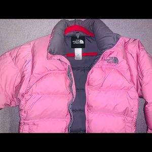 Pink North Face Puffer Coat